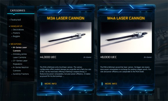 Voyager Direct laser cannons