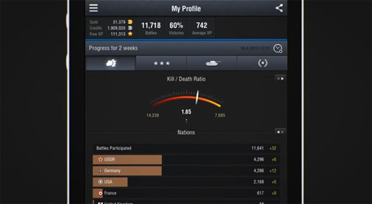 World of Tanks Assistant app add achievements and more