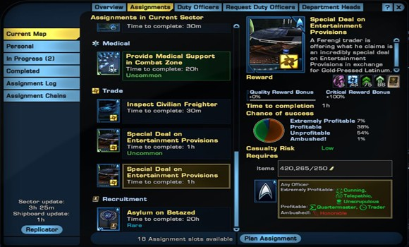 Star Trek Online More Duty Officer Slots