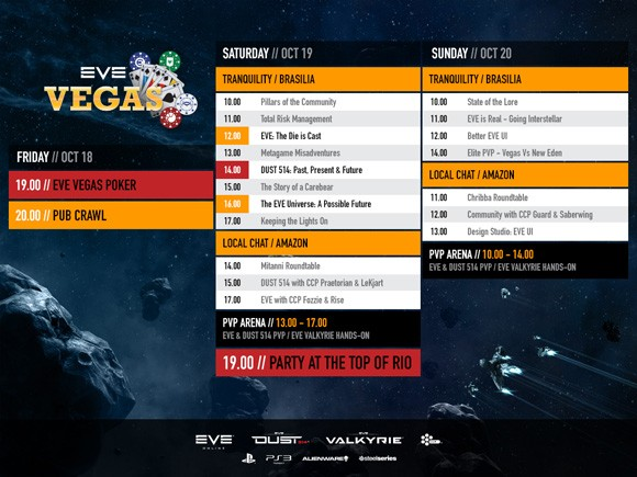 Final EVE Vegas schedule