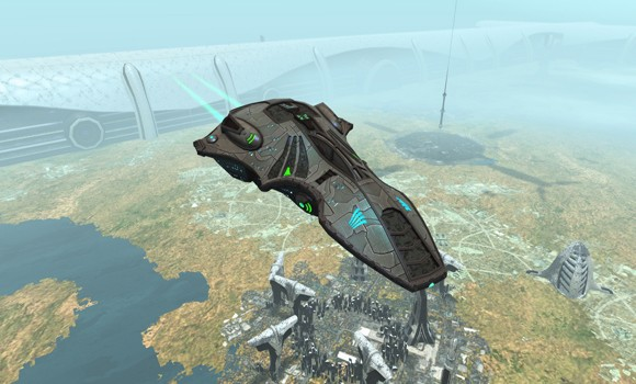 STO Voth Ship in Dyson Sphere
