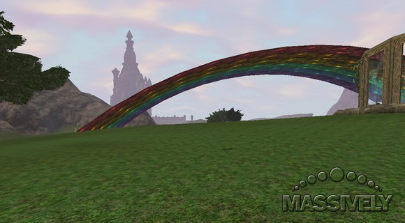 The rainbow at EQII's Ribbitribbit Day celebration