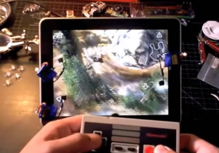 NES controller used to control iPad