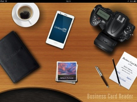 Daily iPad App Business Card Reader HD lets you scan