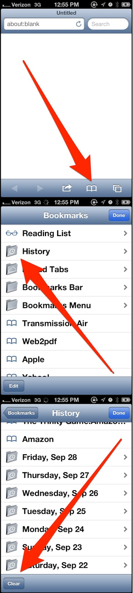 How To Clear Browsing History In Safari Apps Directories Amazon Kindle Fire