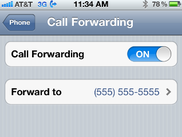 HOW TO FORWARD CALLS FROM YOUR iPHONE TO ANOTHER LINE