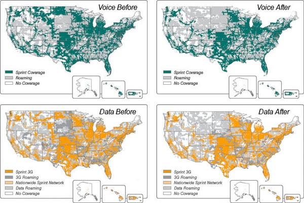 Sprint Voice And G Coverage Being Drastically Reduced Archive - Sprint us coverage map 2016