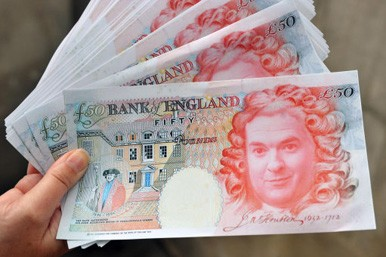 a fan of fifty pound notes