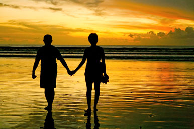 couple on beach
