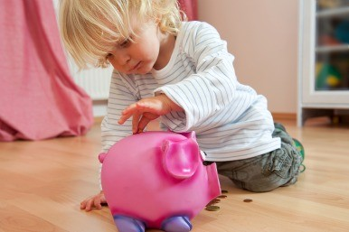 Child piggy bank