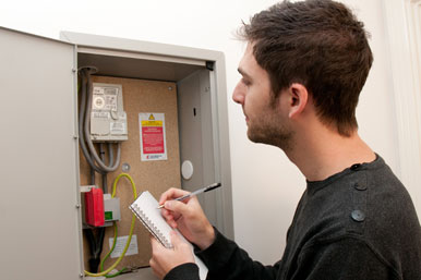 reading the electricity meter