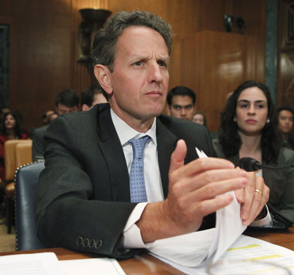 18Timothy Geithner, Secretary of the Treasury in the US