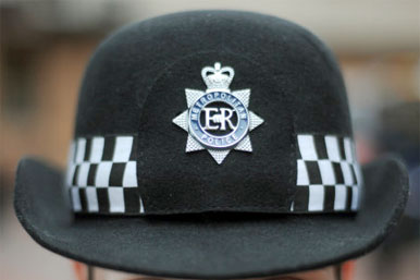 woman police officer's hat