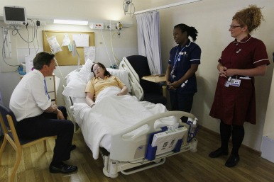 David cameron on the ward