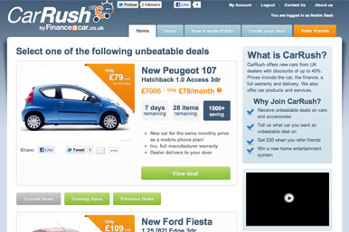CarRush homepage