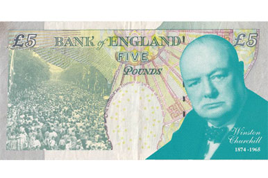 Churchill on a fiver