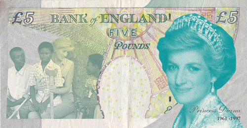 Princess Diana on a fiver
