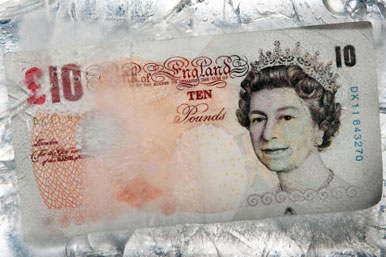 £10 pounds on ice