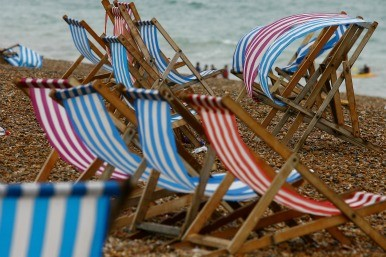 empty deckchairs