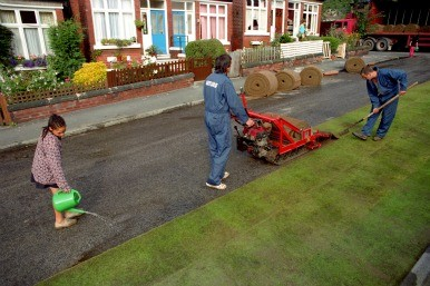 turfing the road