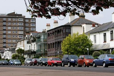 Southend on Sea seafront houses