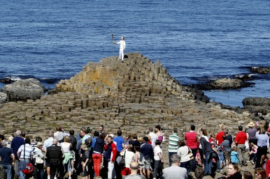 torch on Giant's Causeway