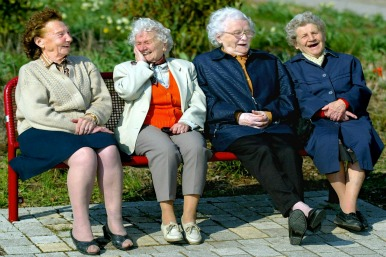 Older women laughing