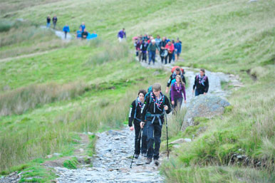 scouts walking up Snowdon