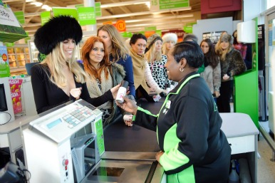 Abby Clancy in Asda for a previous promotion