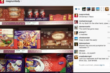 Tweet of Tesco Christmas goods