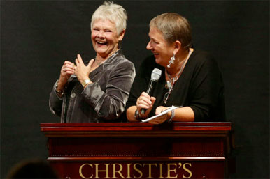 Dame Judy Dench at auction
