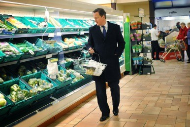 David Cameron shopping