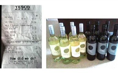 wines bought on offer