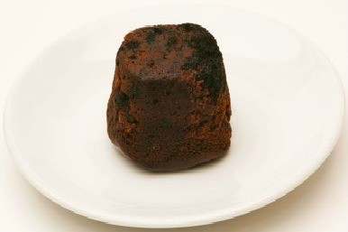 Unappetising Christmas pudding