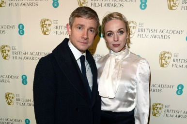Amanda Abbingdon and Martin Freeman