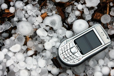 Ice and a phone