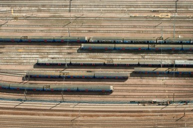 Trains from above