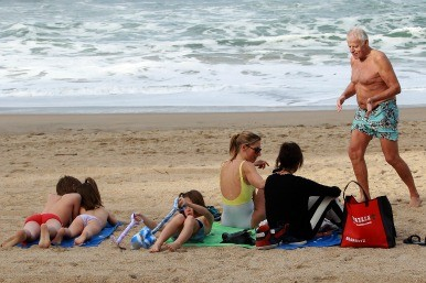 More grandparents pay for family holiday