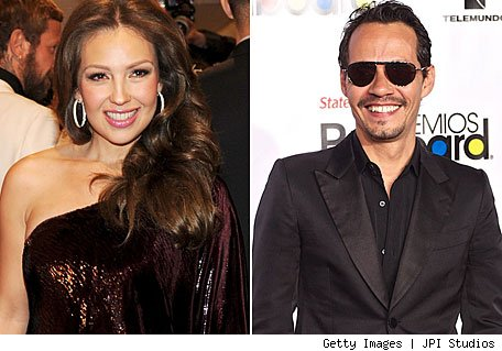 Thalia y Marc Anthony - Credit: Getty Images | JPI Studios