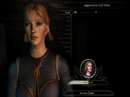 Dragon Age Origins Character Creation