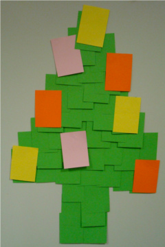 christmas tree, holiday tree, paper