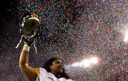 Troy Polamalu at Super Bowl XLIII, Credit: Chris McGrath, Getty Images