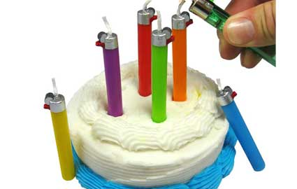 birthday cake, candles