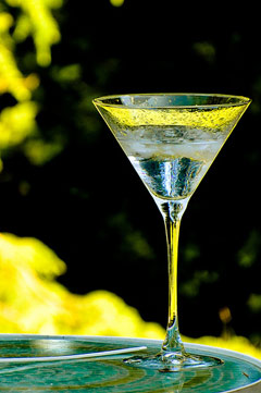 martini in the sun