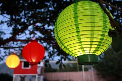 paper lanterns