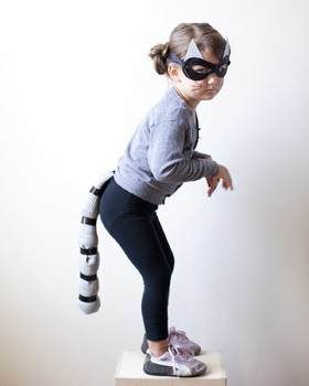 raccoon costume diy