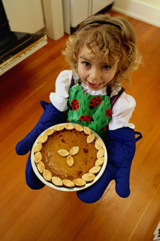 girl with pie