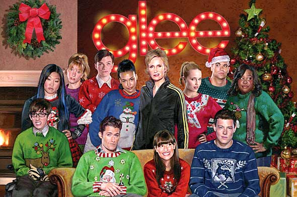 glee christmas sweater album picture
