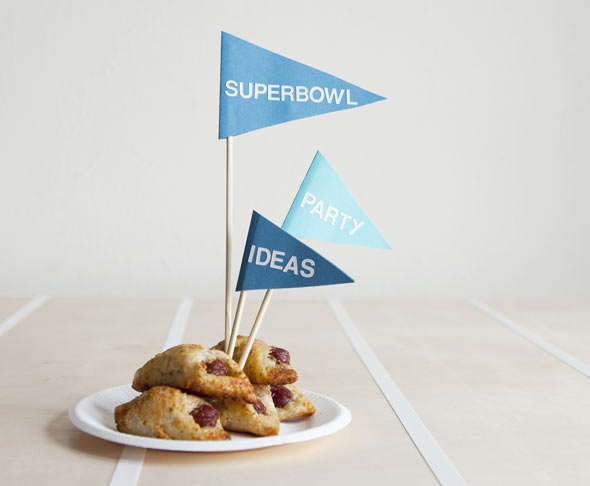 Super Bowl decorations