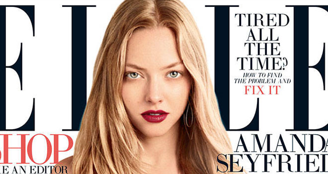 Amanda Seyfried Covers ELLE, August 2013